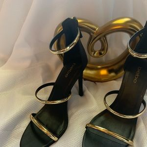 bebe Shoes - Black and gold heels